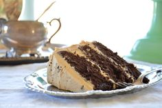 Curly Girl Kitchen: Chocolate Cake with Salted Peanut Butter Chocolate Chip Buttercream