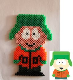 South Park - Kyle Broflovski hama perler beads by Xeina-rose-of-death
