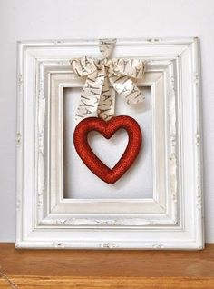 This would be easy to make something for each month and switch out the hanging object... Kinda love this idea!