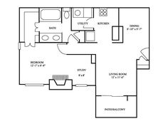 A one bed floor plan at River Stone Ranch - Austin Apartments 512-229-1793