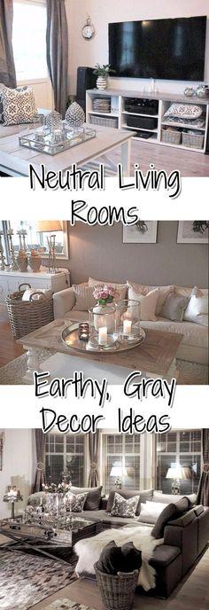 Neutral Living Room Ideas - Earthy Gray Living Room Decor