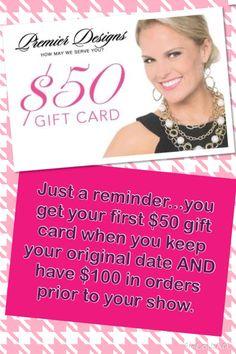 Such awesome hostess benefits! || http://kristihenry.mypremierdesigns.com