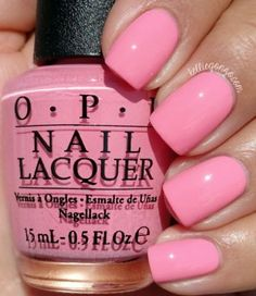new Ideas gel manicure colors opi products Baby Pink Nails, Bright Pink Nails, Opi Nail Colors, Best Summer Nail Color, Spring Nail Colors, Summer Colors, Nail Lacquer, Opi Nails, Gel Manicure