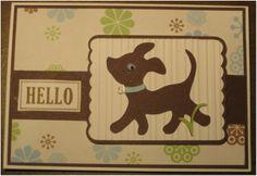 Hello card using Cricut cartridges, Nate's ABC's and Elegant Edges.