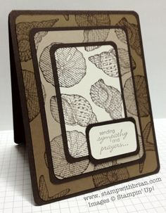 handmade card from: stampwithbrian.com - Triple Time Stamping ... luv the use of different shades of base card for the layers ... By the Seashore ... Stampin' Up!