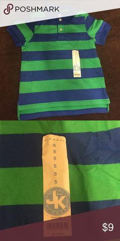 Blue and green boys polo Blue and green polo J. Khaki Shirts & Tops Polos