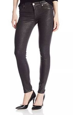 8a1362e593047 Nwt Hudson Women Black Gold Glitter Stretch Mid-Rise Nico Skinny Pants Sz 32  #fashion #clothing #shoes #accessories #womensclothing #jeans (ebay link)