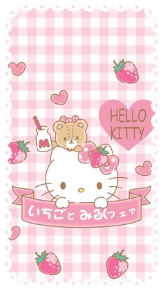 New Wallpaper Pink Kawaii Hello Kitty 48 Ideas Sanrio Wallpaper, Hello Kitty Iphone Wallpaper, Hello Kitty Backgrounds, Kawaii Wallpaper, Hello Kitty Art, Hello Kitty Themes, Hello Kitty My Melody, Hello Kitty Birthday, Trendy Wallpaper