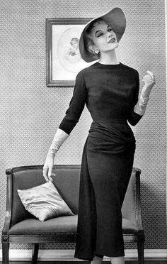 Pierre Balmain photo by Philippe Pottier 1955 more amazing apparel: http://999dresses.blogspot.com/