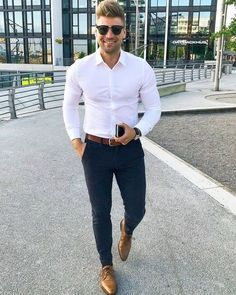 46 Stylish Formal Men Work Outfit Ideas To Change Your Style - Business Outfit Formal Dresses For Men, Formal Men Outfit, Men Formal, Business Outfit, Business Casual Outfits, White Shirt Outfits, Work Outfits, Work Outfit Men, Mens Dress Outfits