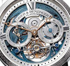 Grieb & Benzinger Blue Merit Customized A. Lange & Sohne Tourbillon Pour le Merite Watch