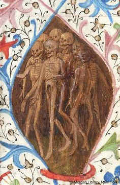Seven skeletons in lozenge | Book of Hours | France, Savoy or Besançon | ca. 1470 | The Morgan Library & Museum