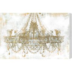 "16"" x 24"" Gold Diamonds Canvas Print, Oliver Gal $78.95"