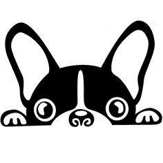 vinilo coche bulldog frances negro
