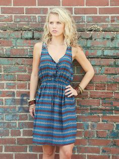 Blue Bird Tribal Print Dress $38.00 : ShopBloved, Live Laugh and Bloved