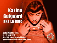 Rapper Karine Guignard aka La Gale is half Swiss and half Lebanese. She arose from the Lausanne punk- and DIY-scene.