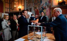 awesome Tendance salopette 2017 - Emmanuel Macron casts his ballot next to his wife Brigitte Trogneux at a polling... Check more at https://listspirit.com/tendance-salopette-2017-emmanuel-macron-casts-his-ballot-next-to-his-wife-brigitte-trogneux-at-a-polling/