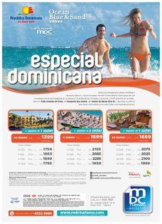 publicidad gráfica para MDC Turismo y Ocean Blue Hotels