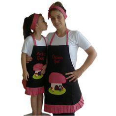 Anne Kız Kişiye Özel Mutfak Önlüğü- Çocuk