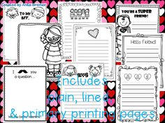 Valentine's Day Stationary- perfect for the Writing Centre!