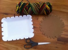 Weaving With a Styrofoam Produce Tray - - Pinned by #PediaStaff.  Visit http://ht.ly/63sNt for all our pediatric therapy pins