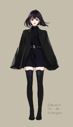 セーラーサターン ♄ Cool Anime Girl, Pretty Anime Girl, Beautiful Anime Girl, Kawaii Anime Girl, Anime Art Girl, Manga Girl Drawing, Sailor Moon Art, Sailor Moon Crystal, Sailor Moon Girls