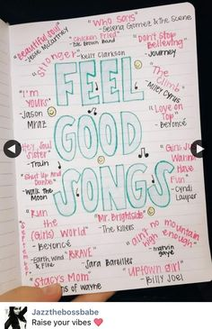 List of fun, feel-good songs to listen to when you need a pick-me-up or some motivation Music Lyrics, Music Quotes, Music Songs, Teen Songs, Motivational Songs, Summer Playlist, Song Playlist, Music Mood, Mood Songs