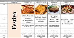 Menú Principal Comedor Escolar del 18 al 22 de Mayo de 2015