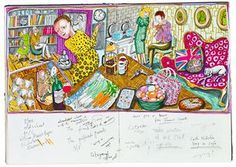 Grayson Perry family scene