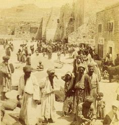 Bethlehem-بيت لحم: PALESTINE - Bethlehem, 1890s (early 20th c.) 40 (Wheat and Barley harvest displayed in Nativity church-yard)