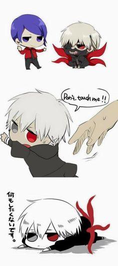 "Kawaii! :"") -Anime : Tokyo Ghoul"
