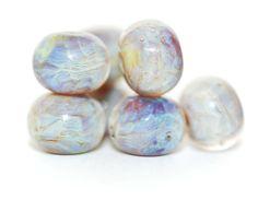 Lampwork BORO glass beads (7), borosilicate glass beads, handmade borosilicate lampwork glass beads, milky. purple, blue. borosilicate SRA by Juliyamrboro on Etsy