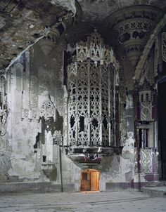 "Andrew Moore - from the series Detroit.  Amazing, amazing images of abandoned buildings in Detroit or as I saw it referred to: ""Urban Archaeology"""