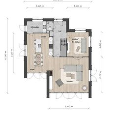 House Layout Plans, Small House Plans, House Layouts, House Floor Plans, Contemporary House Plans, Modern House Plans, Modern House Design, Single Apartment, Compact House