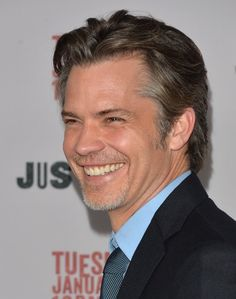 mamapeterson:  Day 8: Timothy Olyphant smiling on the red carpet for Rizlow  Beautiful… this man looks great with grey in his hair <3