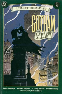 Gotham by Gaslight, art by Mike Mignola, not one of my fave artists but lends itself to another great Elseworlds story.