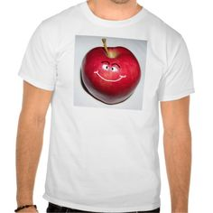 Happy Apple with Smiley Face Design T Shirt, Hoodie Sweatshirt