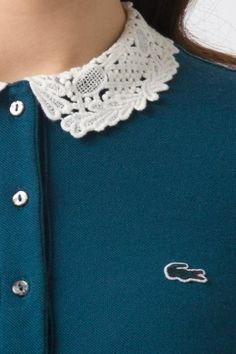 All I want for #Christlmas... #Lacoste L!VE Long Sleeve Lace Collar Polo Dress
