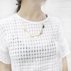 Young Frankk Scalloped Necklace | http://www.youngfrankk.com/collections/all-products/products/scalloped-necklace