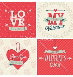 Valentines day set vector  by aviany on VectorStock®