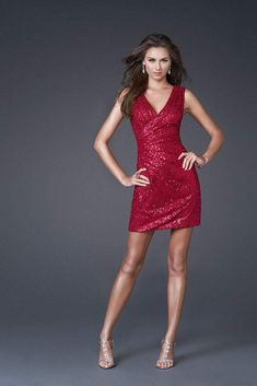 Shop La Femme evening gowns and prom dresses at Simply Dresses. Designer prom gowns, celebrity dresses, graduation and homecoming party dresses. Red Sequin Dress, Sequin Cocktail Dress, Sequin Shorts, Short Cocktail Dress, Cocktail Dresses, Sexy Dresses, Short Dresses, Dresses 2013, Fall Skirts