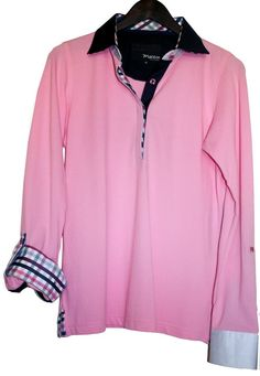 Maceoo Pink Long Sleeve Ladies Polo 42 (12)  100% Cotton #Maceoo #PoloShirt #Casual
