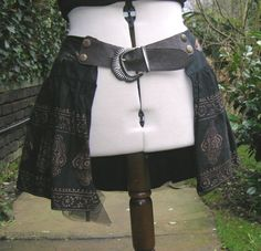 Steampunk skirt belt. repurposed clothing statement belt, via Etsy.
