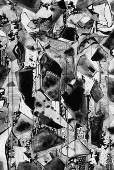 Francois Pretorius - City of God (2014) #art #illustration #ink #abstract #african #beat
