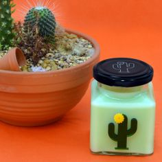 Flamingo Candles Yellow Flower Cactus Candle