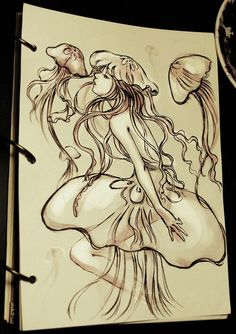 The Jellyfish Princess by Qinni on DeviantArt The Jellyfish Princess by Qinni on DeviantArt , You can find Jellyfish and more on our website.The Jellyfi. Jellyfish Drawing, Jellyfish Tattoo, Jellyfish Art, Jellyfish Light, Jellyfish Decorations, Jellyfish Aquarium, Medusa, Qinni, Geometric Tattoos