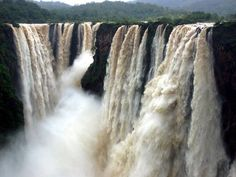Jog Falls, Gerosoppa Falls or Joga Falls is the second-highest plunge waterfall in India, Located in Sagara taluk, these segmented falls are a major tourist attraction.