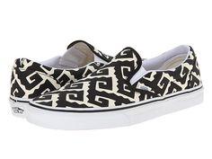 Vans Classic Slip-On™ (Van Doren) Black/Geo Tribe - Zappos.com Free Shipping BOTH Ways