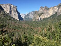 June 26, 2017 Tunnel View with Angel Falls and El Capitan in the afternoon light. Yosemite National Park