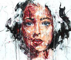 Lucile Callegari / T212 / Acrylique et fusain sur toile, 120x100cm, 2015.